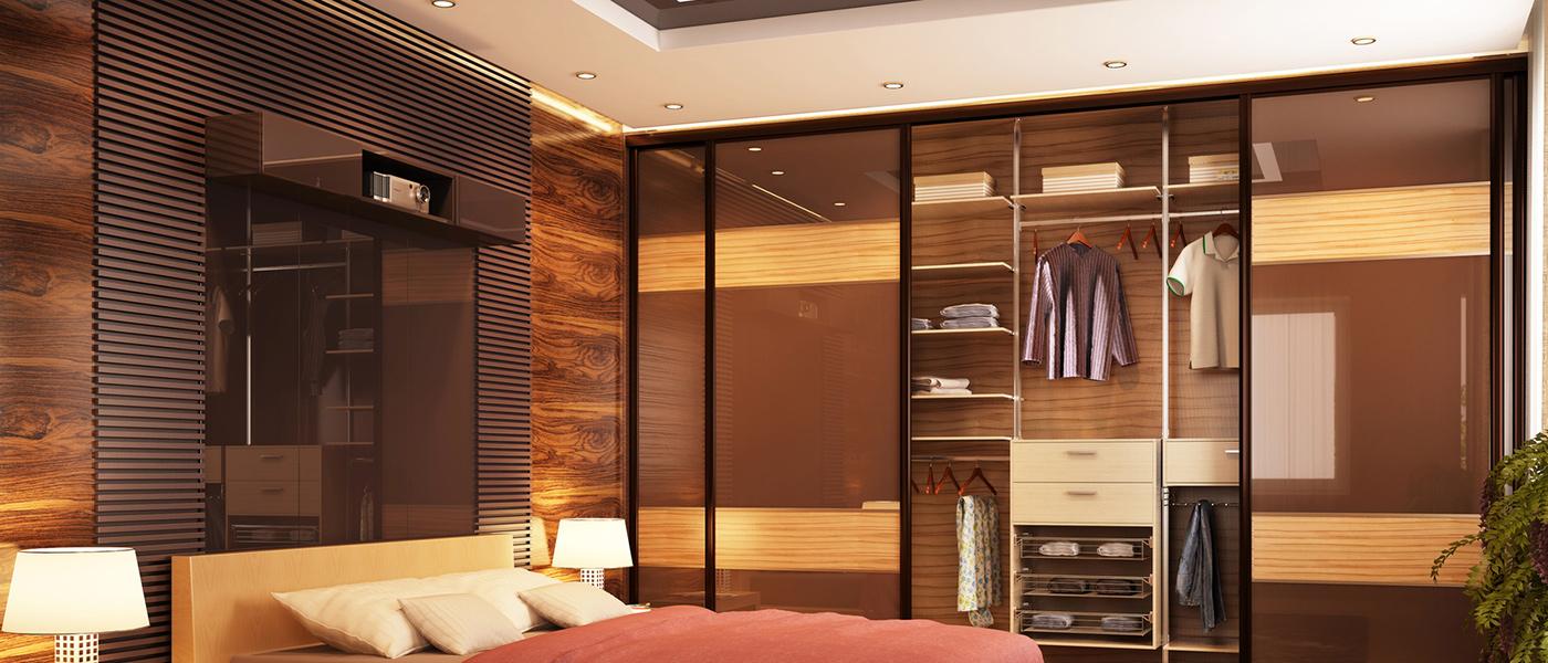 Maß gefertigt Holz Schlafzimmer Einbauschrank