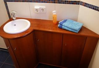 Badezimmer Schrank Holz Möbel Unterschrank Waschbecken