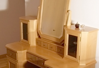Schminktisch Holz Möbel Frisiertisch