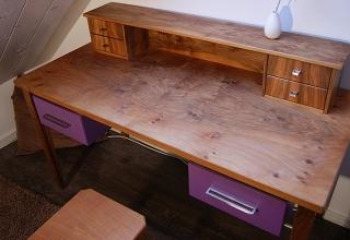 Schreibtisch Holz Schublade Möbel