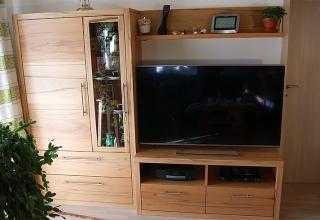 Wohnzimmerschrank Holz Wohnwand